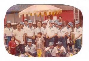 Tim Harian Terbit Jakarta pada lomba gerak jalan memperingati Hari Pers Nasional, di silang Monas, 1985