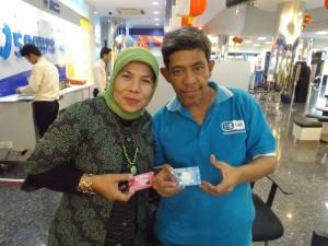 pasangan di kartu ATM, asyikkan? (foto dok pribadi)