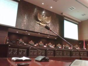 Suasana sidang di Mahkamah Konstitusi (MK) -- foto dok pribadi