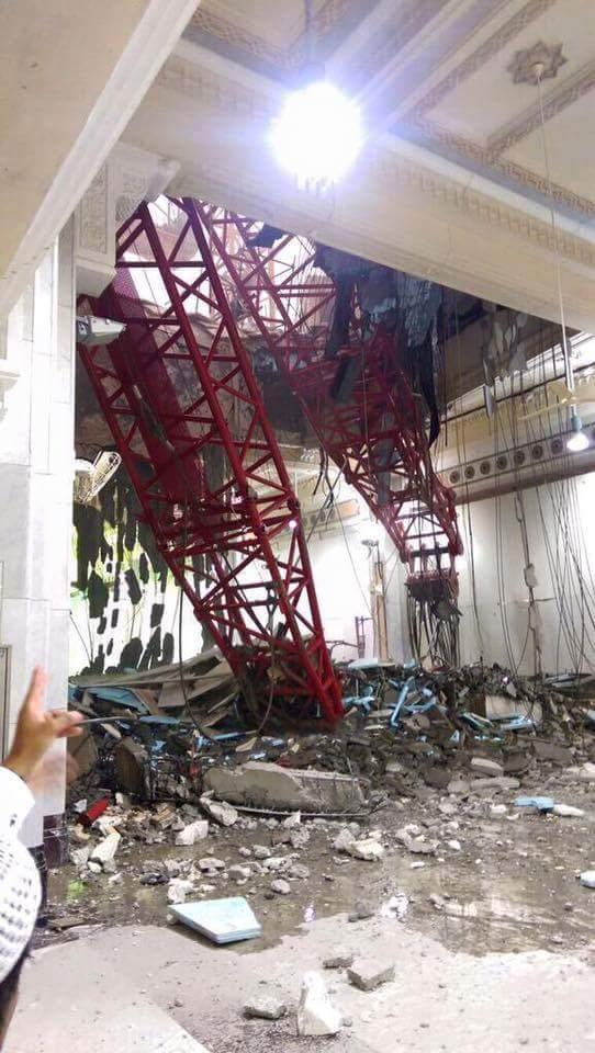 Kondisi Masjidil Haram, Mekah saat crane ambruk (foto Istimewa)