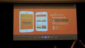 Aplikasi Perpustakaan Digital atau IJakarta (foto ; Nur Terbit)