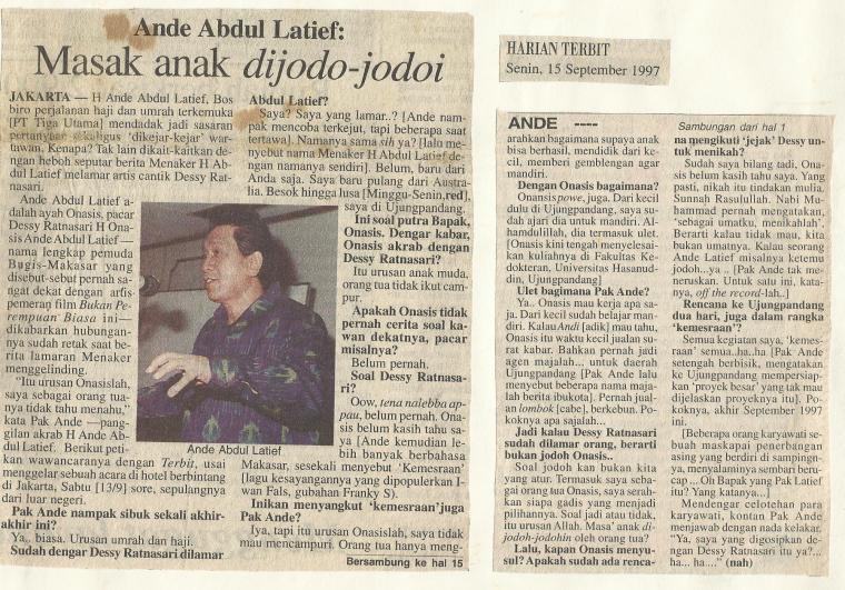 Kliping berita gosip ketika saya jadi wartawan pemburu gosip artis (foto dok Nur Terbit)