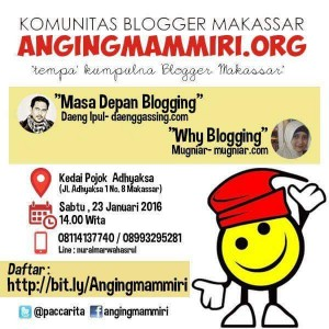 Poster acara kopi darat anggota komunitas Makassar (foto: Nur Terbit)