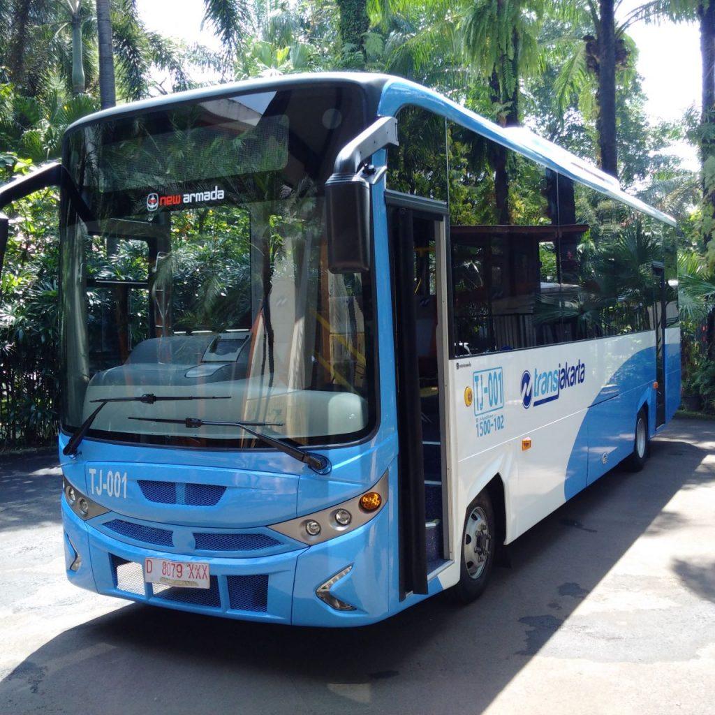 Salah satu armada busway Transjakarta (dok WA TdB)