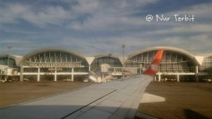 Bandara (baru) Internasional Sultan Hasanuddin, Maros, Sulawesi Selatan (foto : Nur Terbirt)