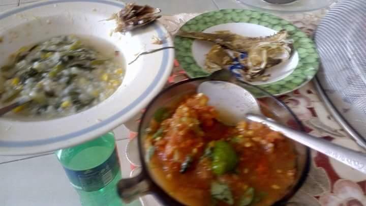 Barobbo atau bubur jagung khas Makassar (foto : Nur Terbit))
