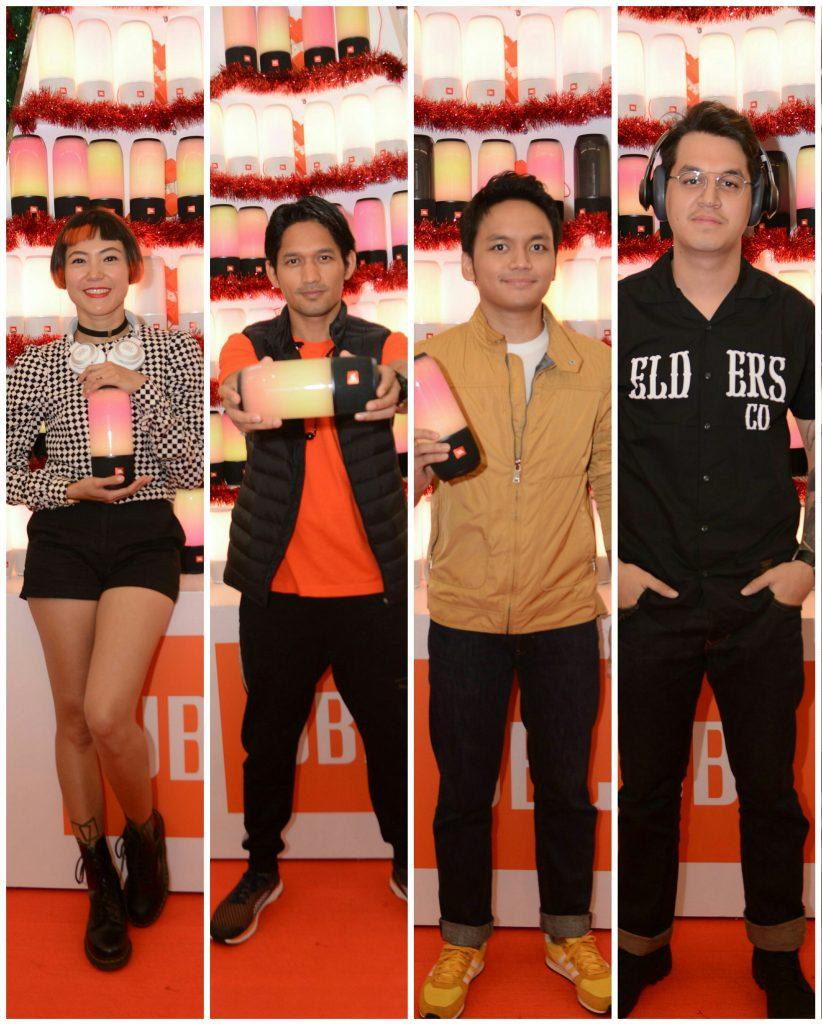 "Para ""JBL Celebrity Friends"" dari kiri ke kanan: Poppy Sovia, Ibnu Jamil, Calvin Jeremy dan Kevin Julio (foto : JBL/NurTerbit"
