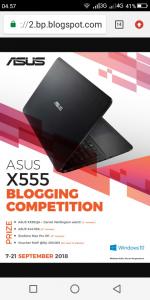 Blogging Competition berhadiah Laptop ASUS X555 (foto dok Asus)