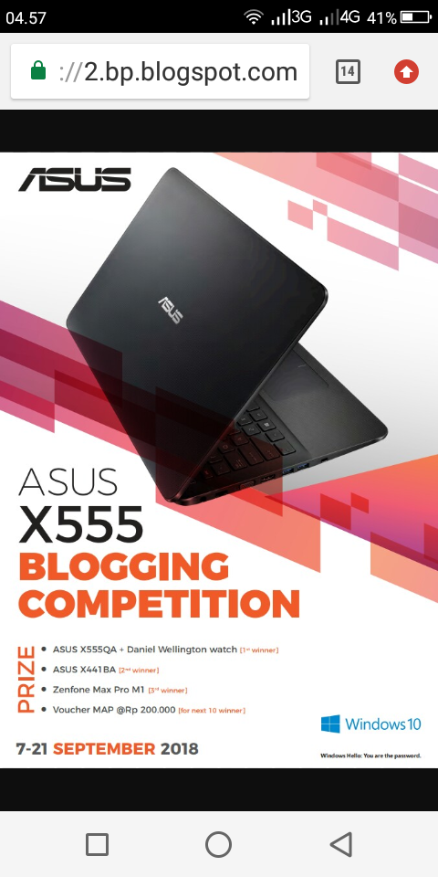 Blogging competition berhadiah Laptop ASUS X555 (foto dok Asus)
