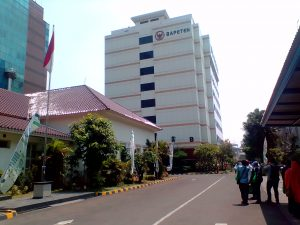 Gedung Badan Pengawas Tenaga Nuklir (Bapeten) di Jl Gajah Mada Jakarta (foto Nur Terbit}