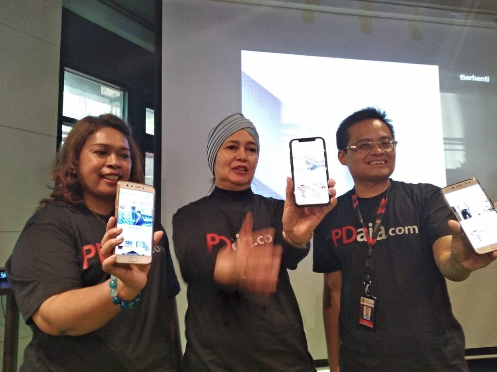 Petinggi Bank Sampoerna saat peluncuran PDaja.com (foto : Nur Terbit)