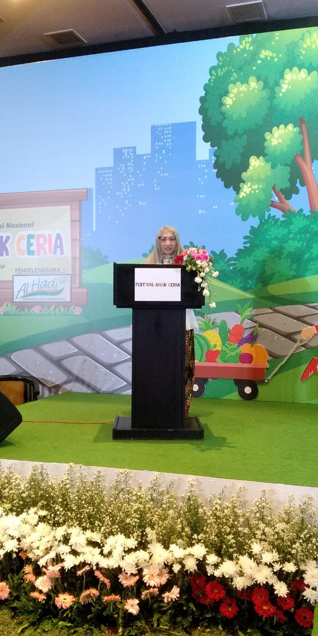 Ibu Hj Anifah, Ketua Yayasan Al Hadi (foto : Nur Aida)