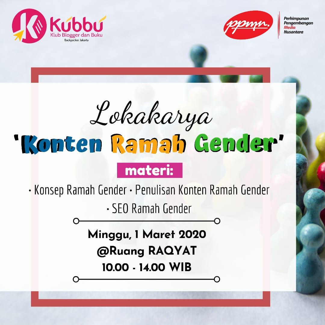 Diskusi bertema konten ramah gender