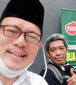 Bersama Lukman Hakim, sesama mantan wartawan Harain Terbit